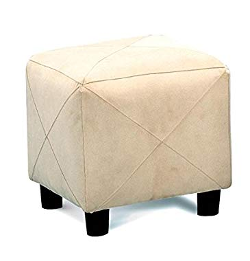 Coaster Casual Microfiber Cube Ottoman, Taupe
