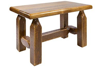 Montana Woodworks MWHCFSBSL Homestead Collection Ottoman, Stain & Lacquer Finish