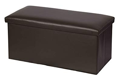 Home Basics Bench Storage Ottoman (Brown)