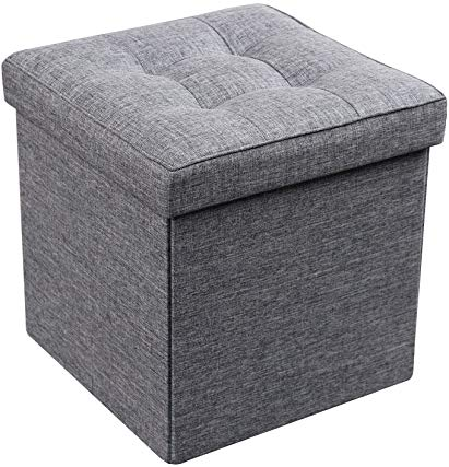 Ottoman with Storage Square Padded Seat/Foot Rest, Foldable 15